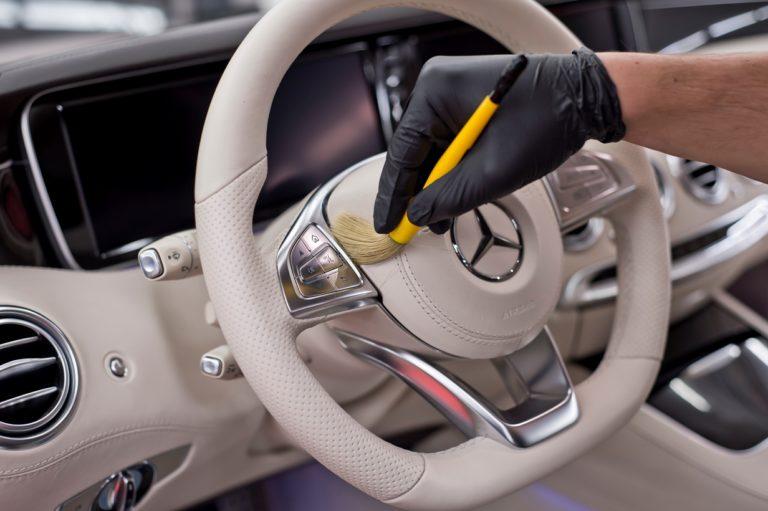 Mercedes S-Coupe  - mycie detailingowe i detailing wnętrza - Radom, Kielce