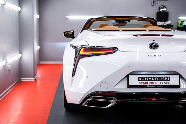 Lexus LC500 Convertible - mycie detailingowe - Radom, Kielce